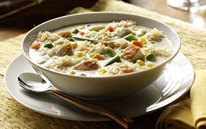 Creamy Chicken and Brown Rice Soup